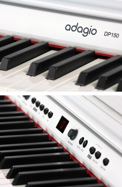 Piano numérique Adagio DP150WH blanc-4. - Voir en grand
