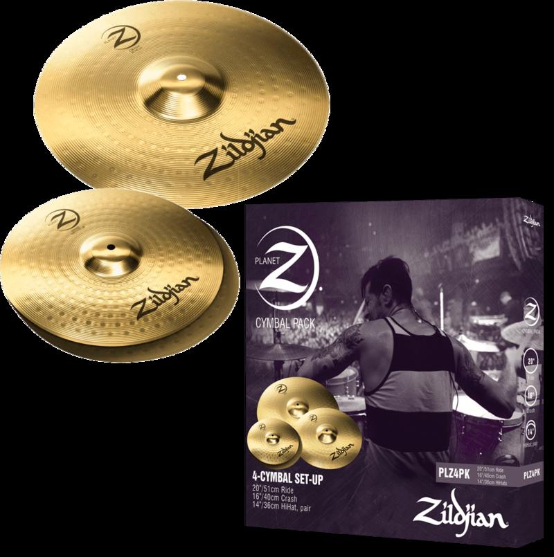 Pack Cymbales Planet Z PLZ1316 - Voir en grand