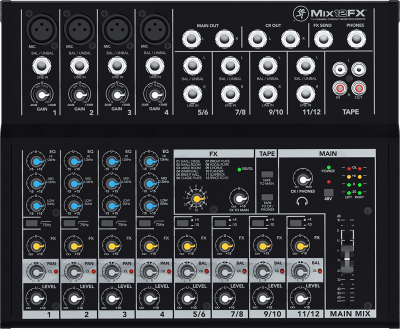 Console de Mixage Mackie MIX12FX-2 - Voir en grand