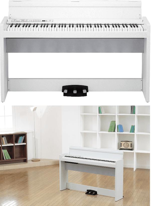 Piano numérique Korg LP380U-WH blanc-2. - Voir en grand
