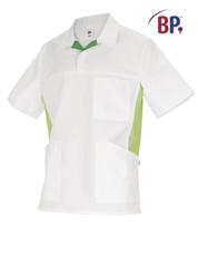Tunique médicale BP Blanc et vert clair - Voir en grand