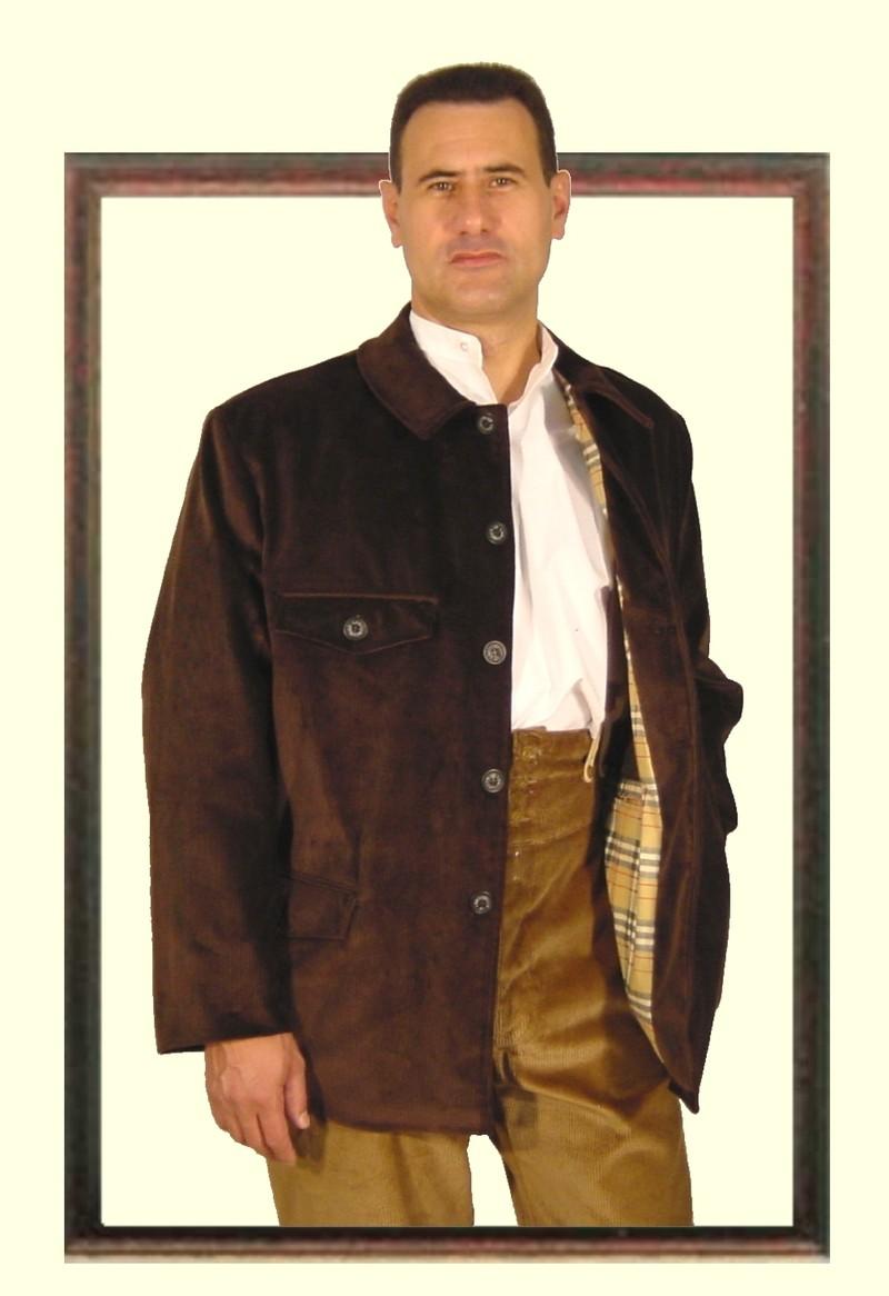 Veste en velours marron pour homme