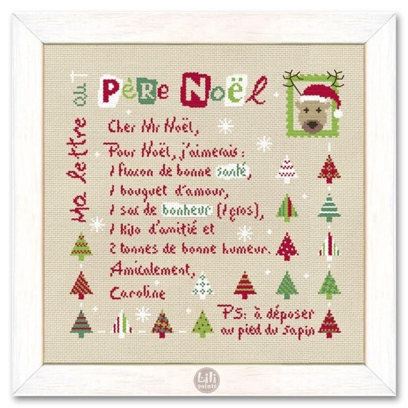Noël - Ma lettre au Père Noël  - NOËL - BOITE A BOUTONS - Voir en grand