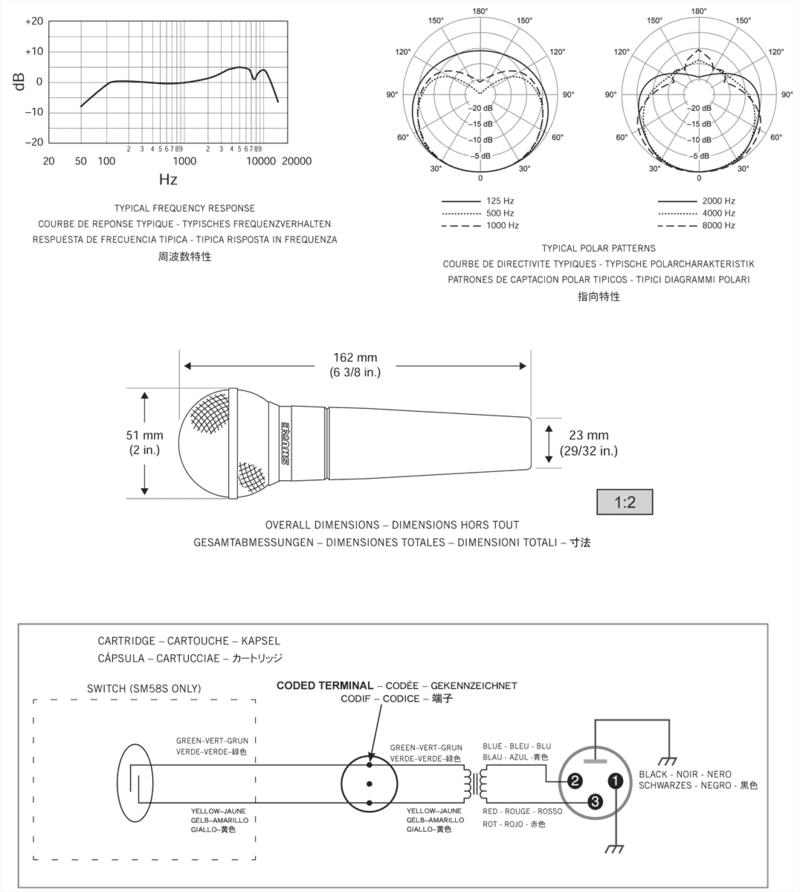 Micro Shure filaire SM58-LCE-3 - Voir en grand