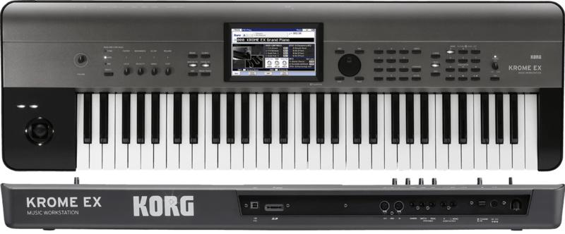 Workstations Korg KROME-61 EX. - Voir en grand