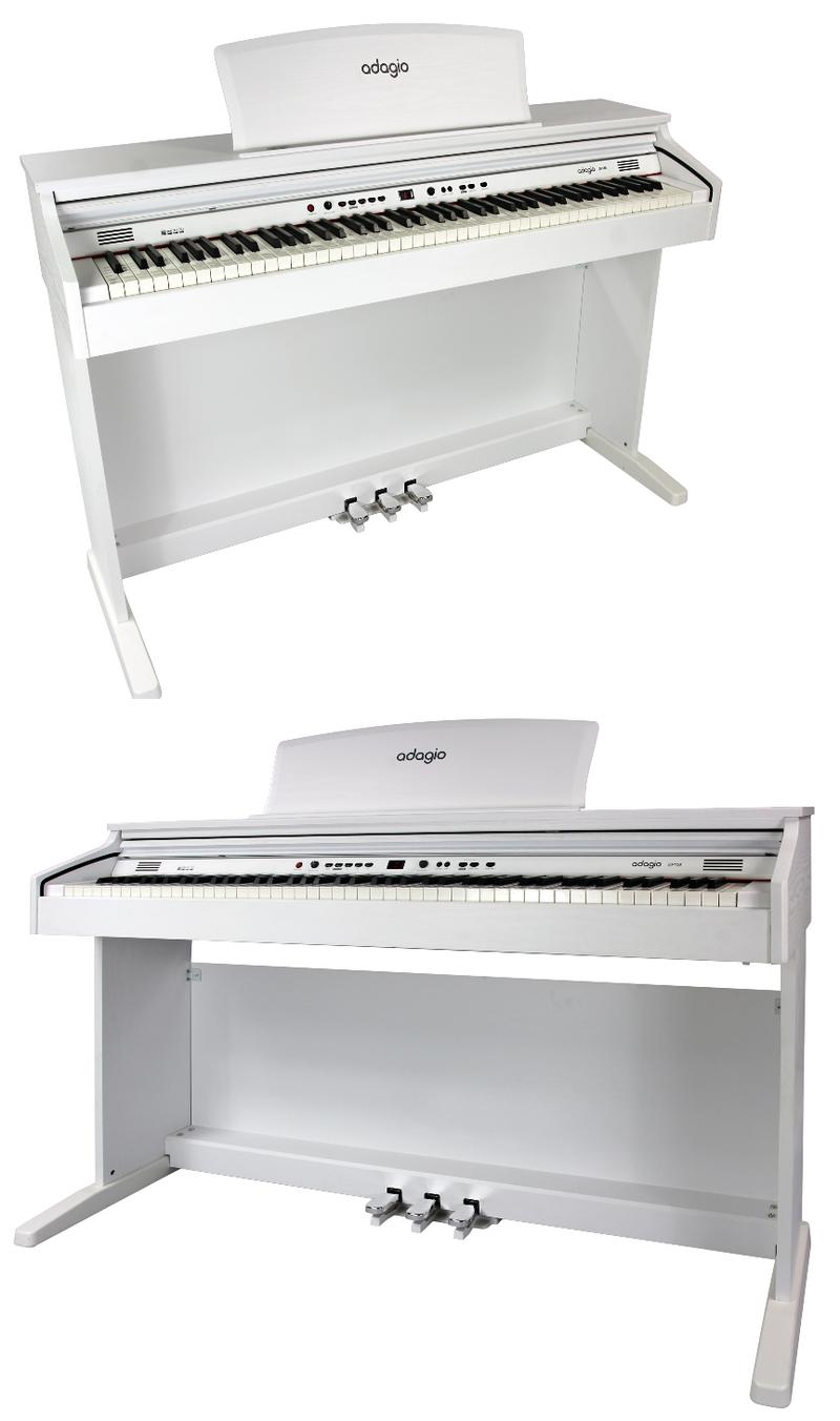 Piano numérique Adagio DP150WH blanc-3. - Voir en grand