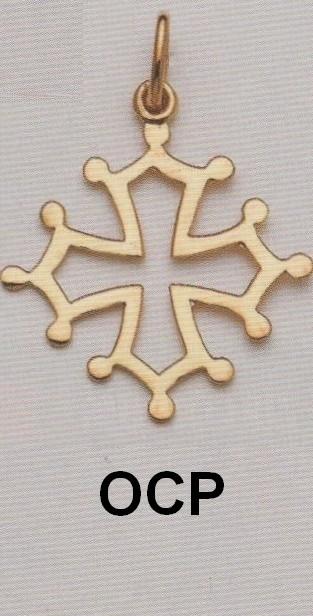 Croix Occitane ajourée Or jaune 750ml modèle OCP - Croix Ajourée - BIJOUTERIE STOERI  - Voir en grand