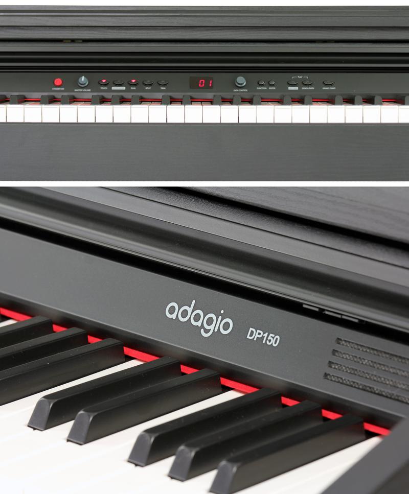 Piano numérique Adagio DP150BK-4. - Voir en grand