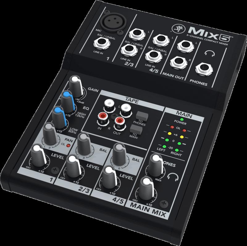 Console de Mixage Mackie MIX5 - Voir en grand