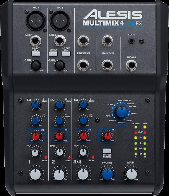 Table de mixage Alesis MM4USBFX-2 - Voir en grand