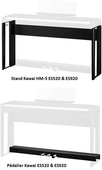 Stand & Pédalier Kawai ES520 & ES920 - Voir en grand
