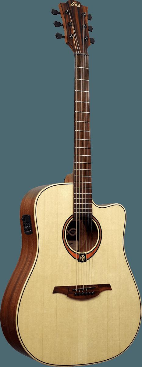 Guitare folk Lâg T88DCE - Voir en grand