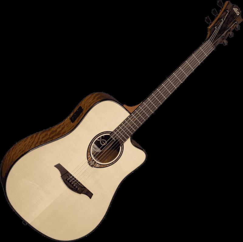 Guitare folk Lâg T318DCE - Voir en grand