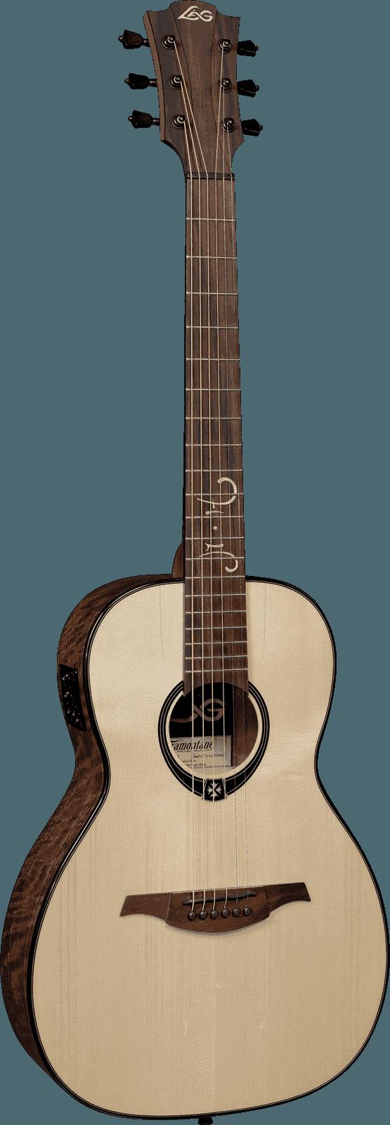 Guitare folk Lâg TS-MH-PE Signature Michel HAUMONT - Voir en grand