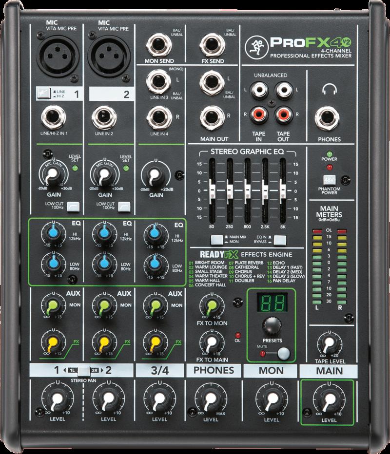 Console de Mixage Mackie PROFX4V2 - Voir en grand