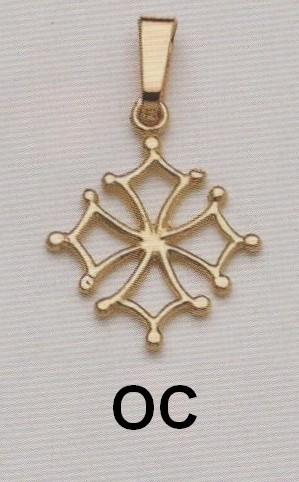 Croix Occitane ajourée Or jaune 750ml modèle OC - Croix Ajourée - BIJOUTERIE STOERI  - Voir en grand