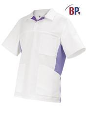 Tunique médicale BP Blanc et Violet - Voir en grand