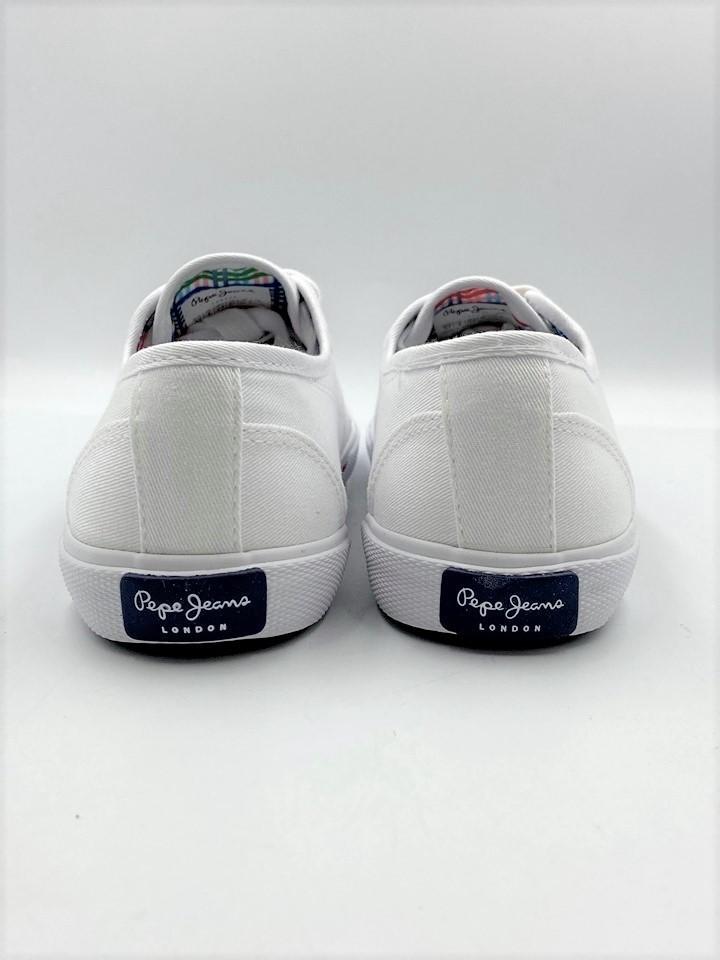 Bakets Pepe Jeans Aberlady Blanches - Voir en grand
