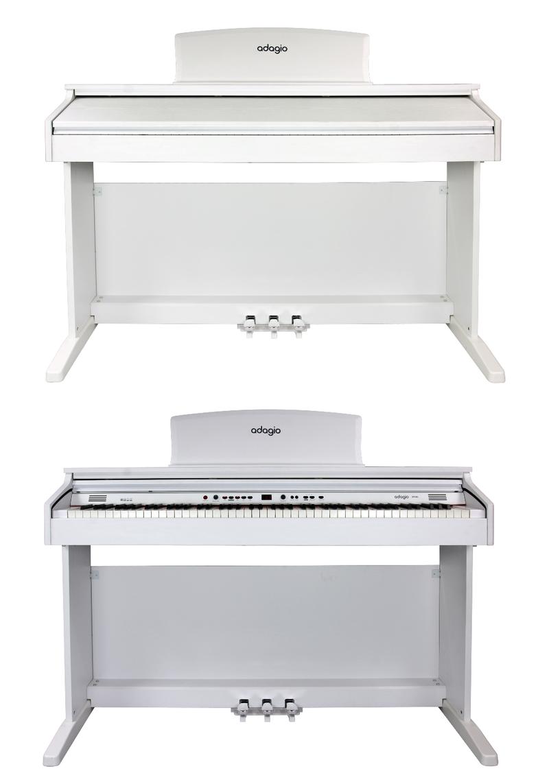 Piano numérique Adagio DP150WH blanc. - Voir en grand