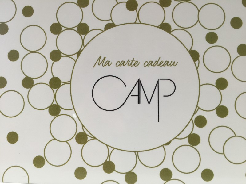 La carte cadeau Camp boutique  - Cartes cadeaux - CAMP BOUTIQUE - Voir en grand
