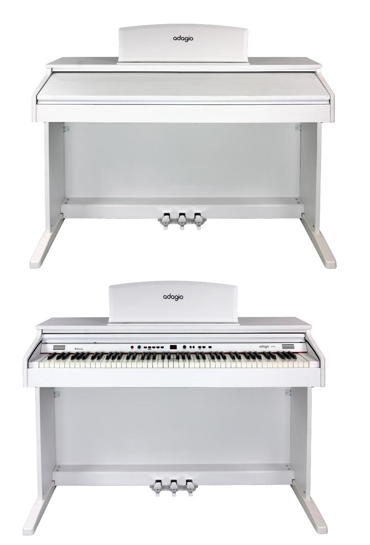 Piano numérique Adagio DP150WH blanc-2. - Voir en grand