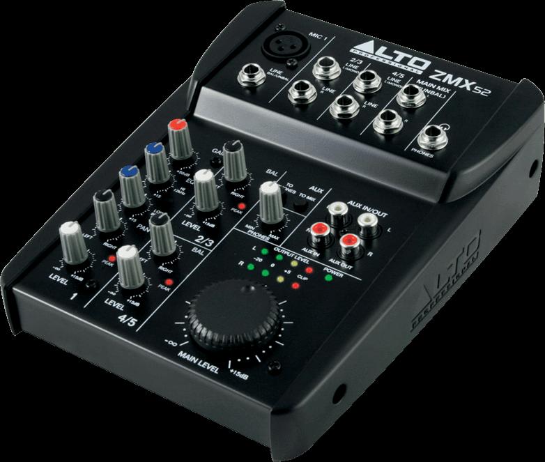 Table de mixage Alto ZMX52 - Voir en grand