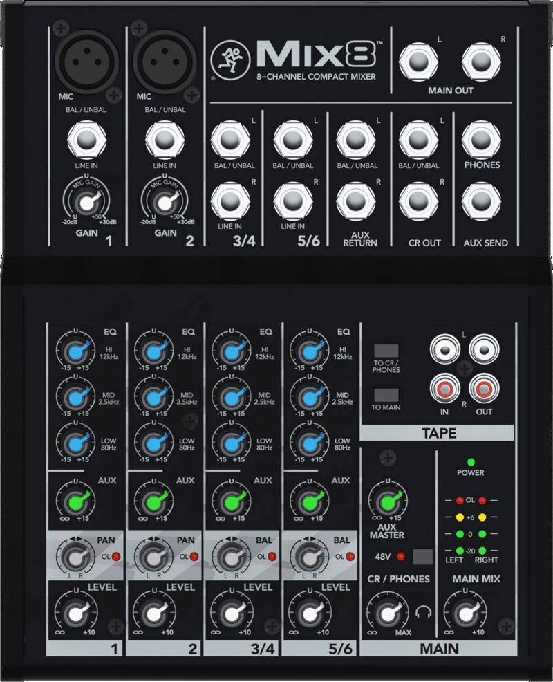 Console de Mixage Mackie MIX8 - Voir en grand