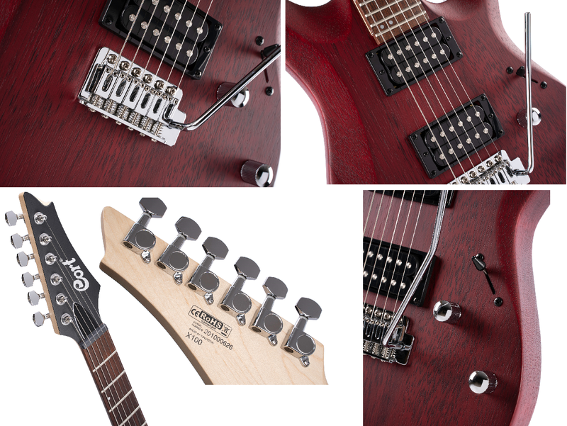 Guitare électrique X100OPBC-2. - Voir en grand