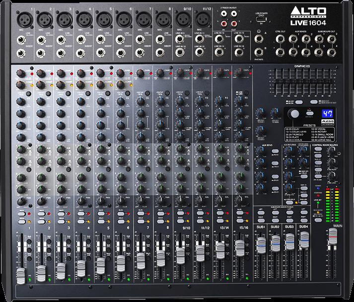 Table de mixage Alto LIVE1604-2 - Voir en grand