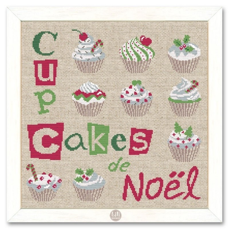 Noël - Les cupcakes de Noël - NOËL - BOITE A BOUTONS - Voir en grand