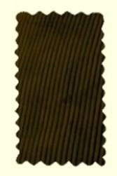 velours marron - Pantalon Largeot -BENOIT ABBAYE - Voir en grand
