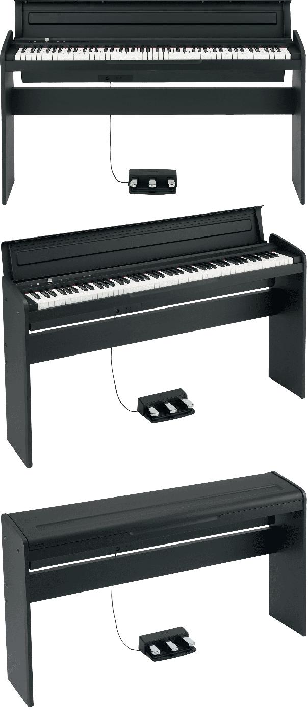 Piano numérique Korg LP180-BK noir - Voir en grand
