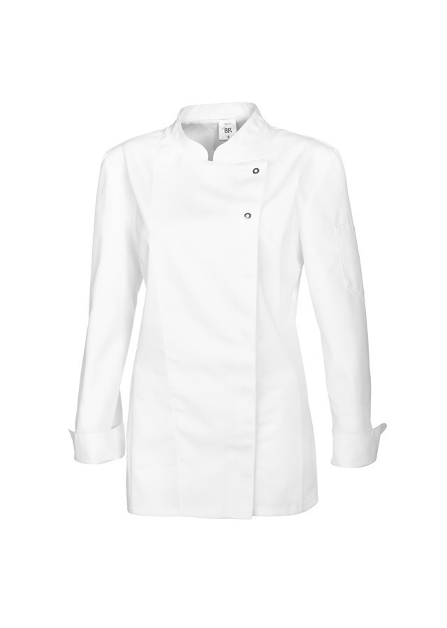 Veste de cuisinier p tissier femme coton polyester for Achat veste de cuisine