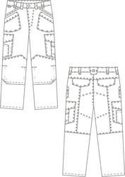 Croquis pantalon de travail BP - vêtement de travail JMAC PRO