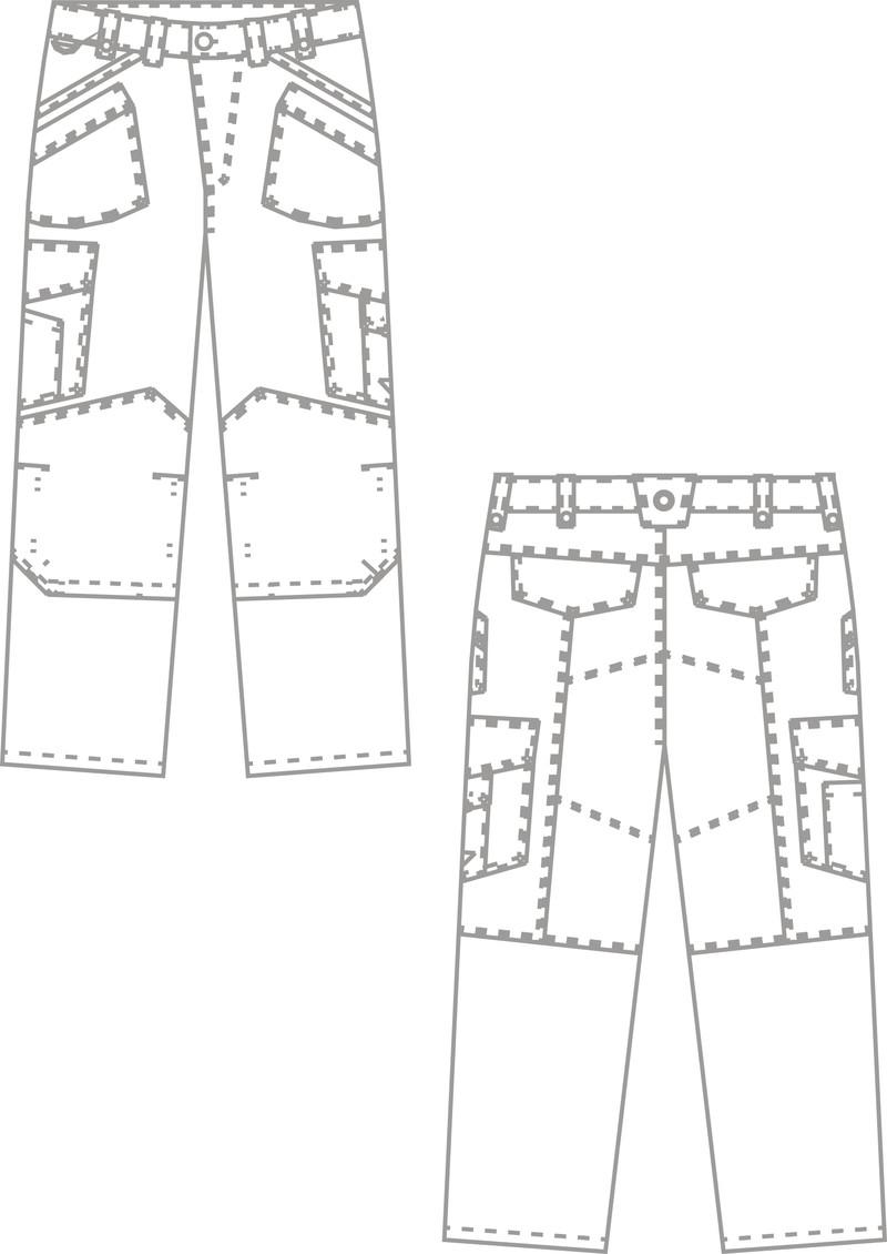 Croquis pantalon de travail BP - vêtement de travail JMAC PRO - Voir en grand