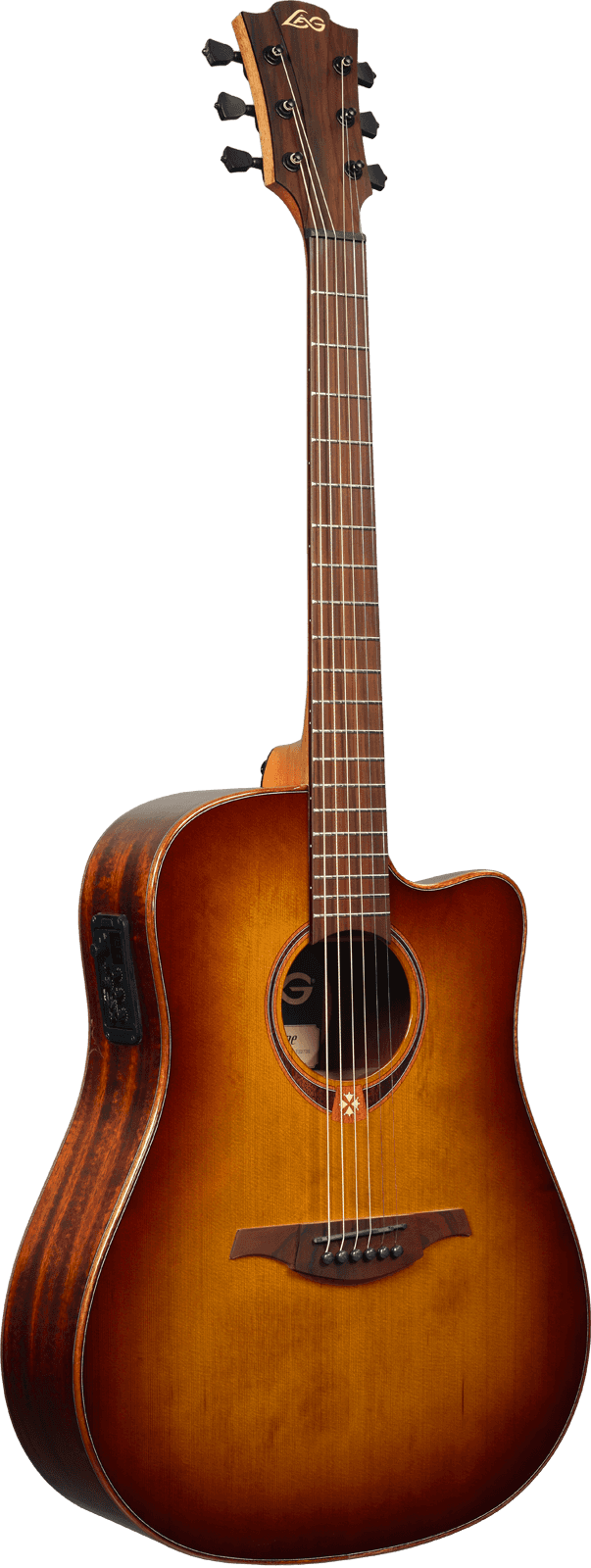 Guitare folk Lâg T118DCE-BRS - Voir en grand