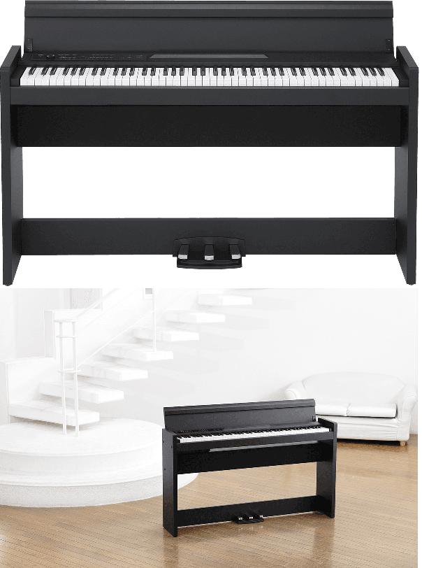 Piano numérique Korg LP380U-BK noir-2. - Voir en grand