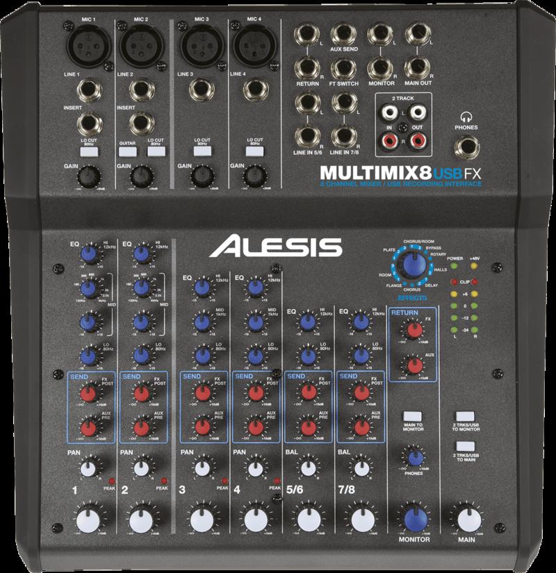 Table de mixage Alesis MM8USBFX - Voir en grand