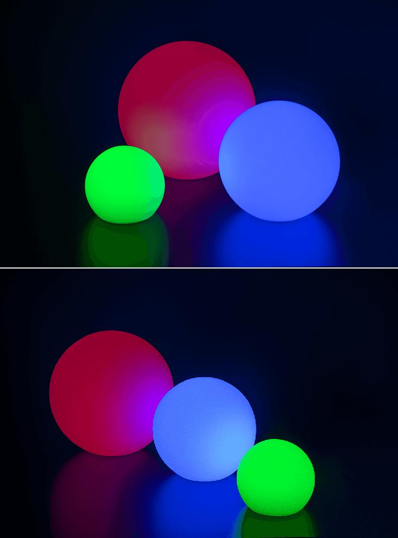 Sphère de décoration lumineuse-2 - Voir en grand