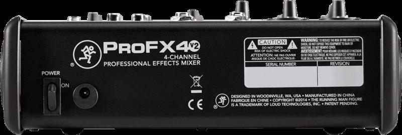 Console de Mixage Mackie PROFX4V2-2 - Voir en grand