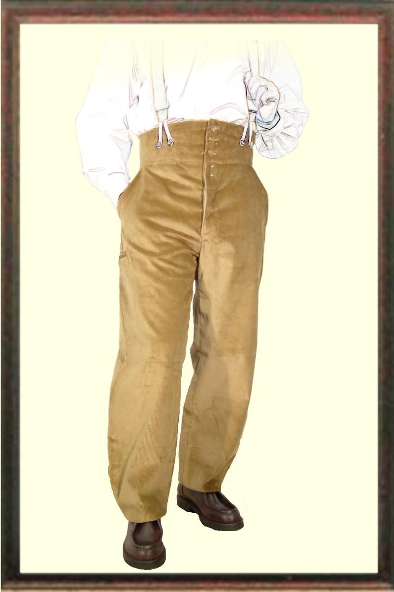 Pantalon Largeot velours à tirant - Le laboureur - Voir en grand