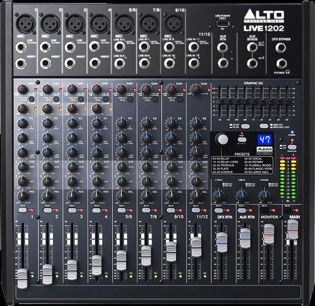 Table de mixage Alto LIVE1202 - Voir en grand