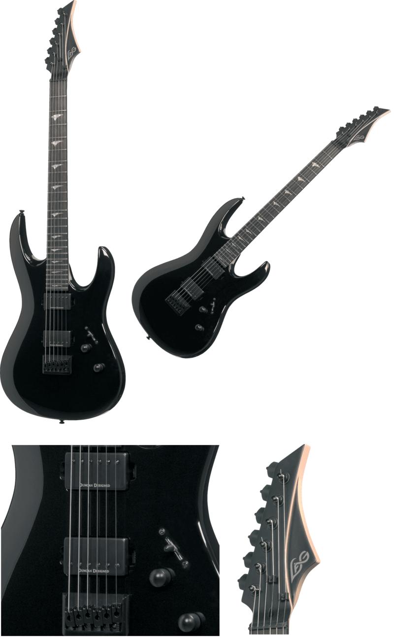 Guitare électrique A100-BLK. - Voir en grand