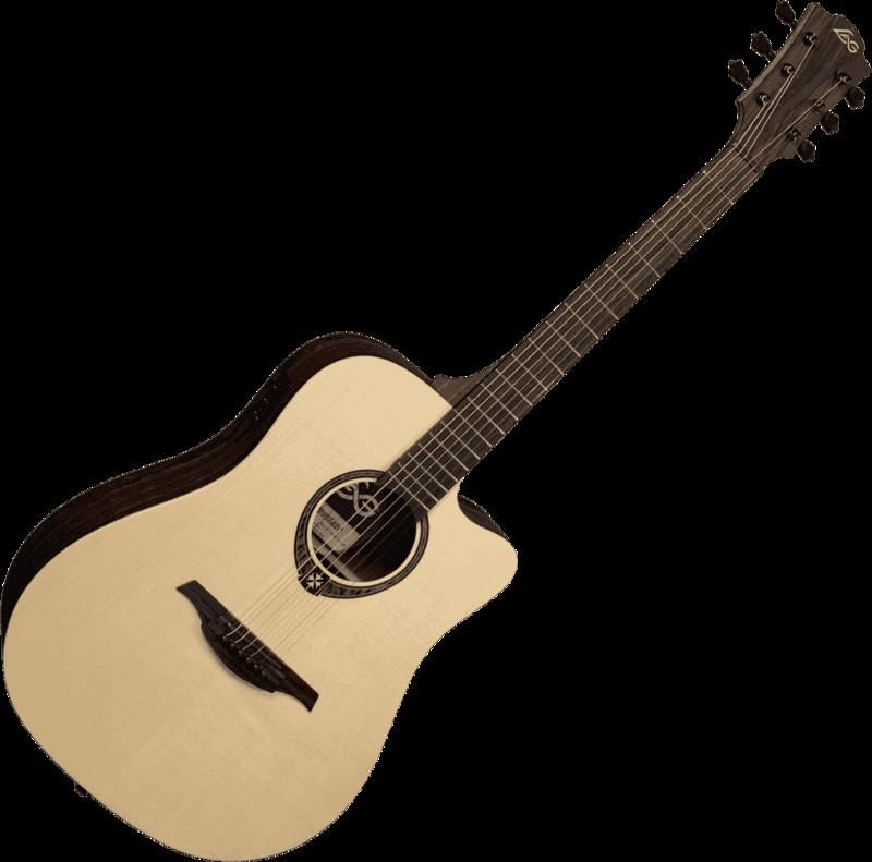 Guitare folk Lâg T270DCE - Voir en grand