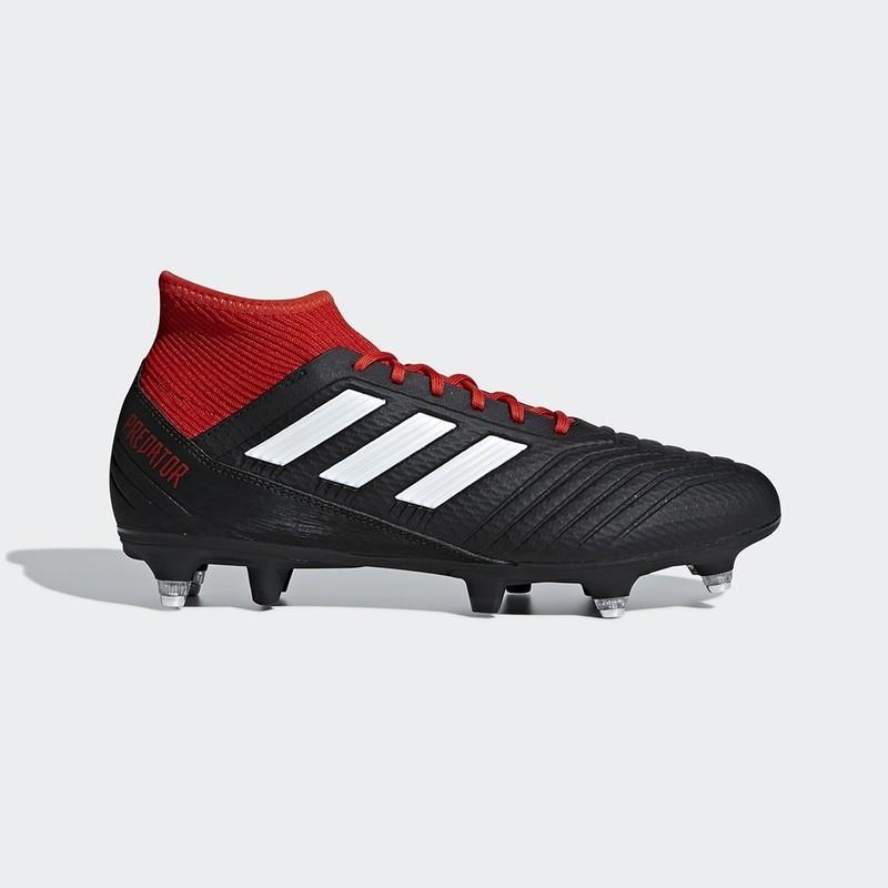 Chaussure Adidas Predator 18.3 Terrain Gras noir