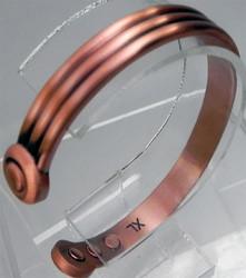 Bracelet cuivre MJ 1052  - BRACELETS CUIVRE  - Espace Bien Etre - Aimants - Pierres - Produits Naturels - Voir en grand
