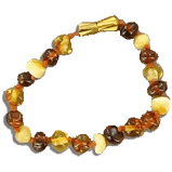 Bracelet AMBRE Bébé - BIJOUX BEBES ET AMBRE BALTIQUE - SPIRITUS CORPUS PAU / Espace Bien Etre  - Voir en grand