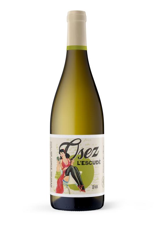 Vin Blanc demi sec : Colombard-Gros Manseng 2018 - 50cl - Vins blancs - Osez L'Escudé - Voir en grand