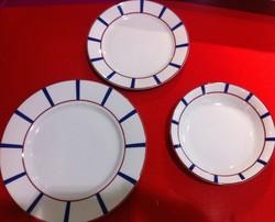 Assiettes plate, dessert et creuse - Amelie - Deshoulières - Voir en grand
