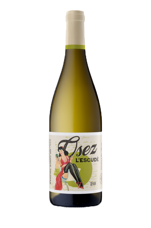 Blanc demi sec : Colombard-Gros Manseng 2019 - Vins blancs - Osez L'Escudé - Voir en grand